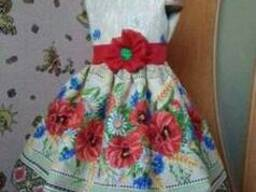 Платья детские и взрослые в украинском стиле