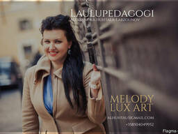 Laulupedagogi Aleksandra Huhtala-Labzounov. laulunope