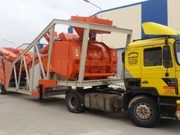MVS 100M 100m3/hour Mobile Concrete Batching Plant