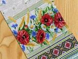 Скатерти, полотенца в украинском стиле, лён- рогожка - фото 1